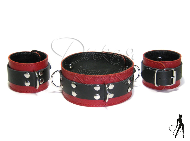 Sexual Wellness The Cheapest Price Bdsm Brown And Black Leather Cuffs Restraints Bdsm Kink Bondage Fetish Play