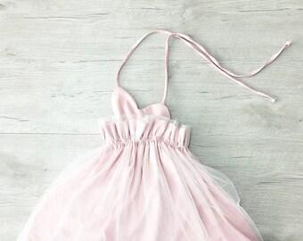 flower girl dress, Tutu dress, girls dresses, baby girls dress, Handmade, Spacial,Birthday, tutu, soft pink, Pink dress, baby girl, Unique