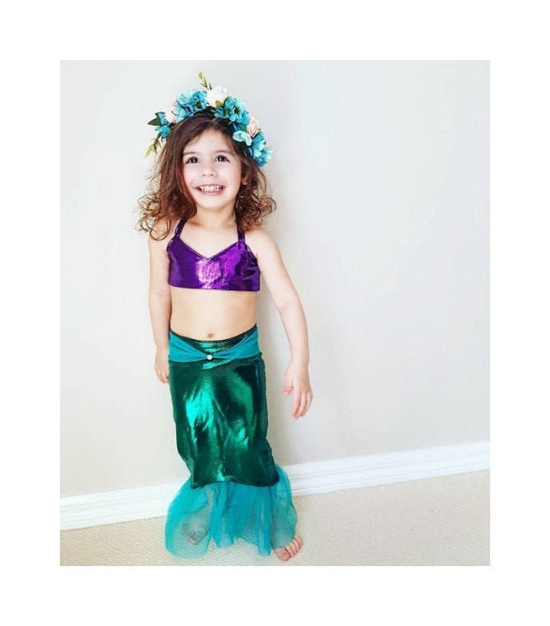 8e442e9615abd Little Mermaid Birthday Outfit Gift for Girls Baby Toddler | Etsy
