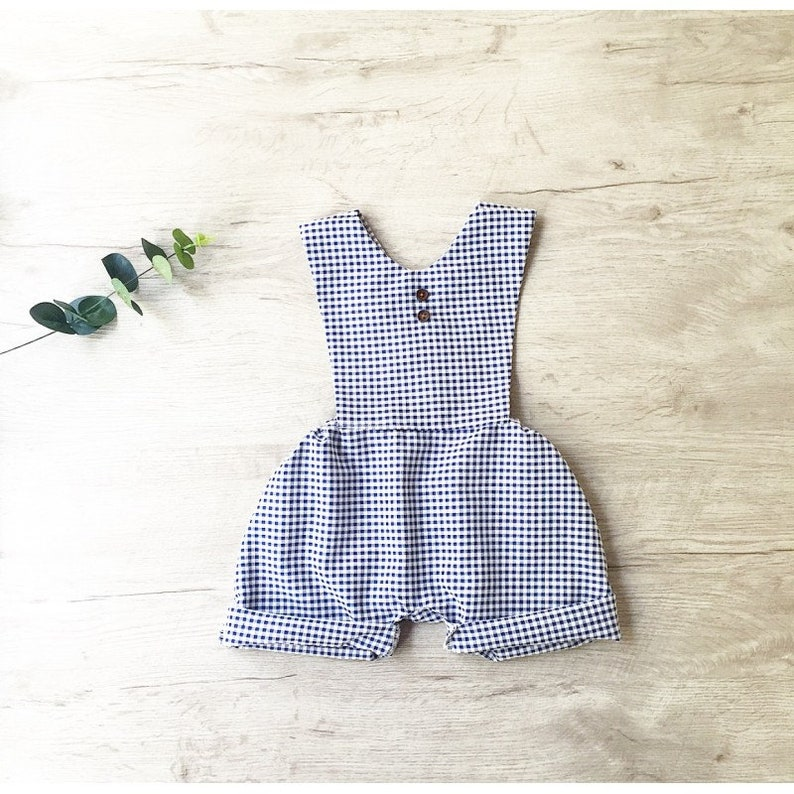 baby romper boys romper,boy outfit Baby boy romper,baby clothes gingham Baby boy coming home outfit preemie boy clothes newborn outfit
