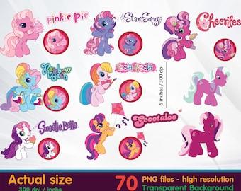 Little Pony clipart - Minnie Clipart Digital 300 DPI PNG Images, Photos, Scrapbook, Cliparts - Instant Download