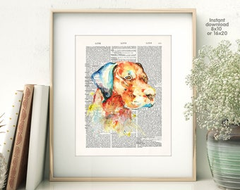 Dog home decor - home decor - dog Poster -  Wall art, Poster Dictionary art, Dictionary Art - Print Wall Decor, Nursery Wall Art