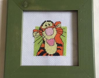 Small tigger cross stitch picture