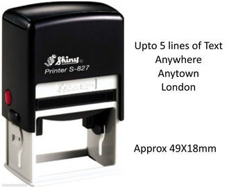 Self Inking Address Stamp 49x18mm. (Available in 3 Colours)
