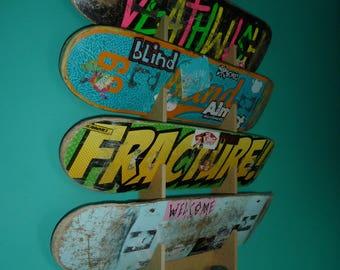 Skateboard Rack. Wall Mounted. Holds up to 4 decks. 00a82ef7e05