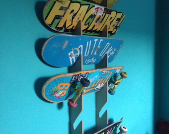 Skateboard Rack. Wall Mounted. Holds up to 6 decks.