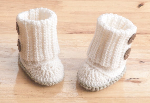 Baby Booties Crochet Pattern Sizes From 3 Months 12 Months Etsy
