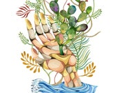 Cactus Painting, Cactus Wall Art, Watercolor Cactus, Wall Art Painting, Watercolor Print, Surrealist Art, Cactus Print, Boho Art, Cactus Art