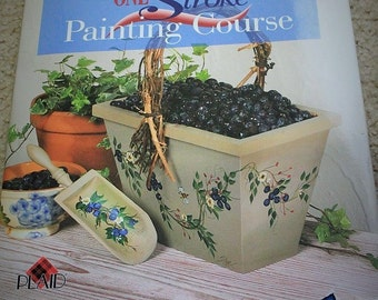 Donna Dewberry's One Stroke Painting-Hardcover Book-painting book-crafting book-how to book-