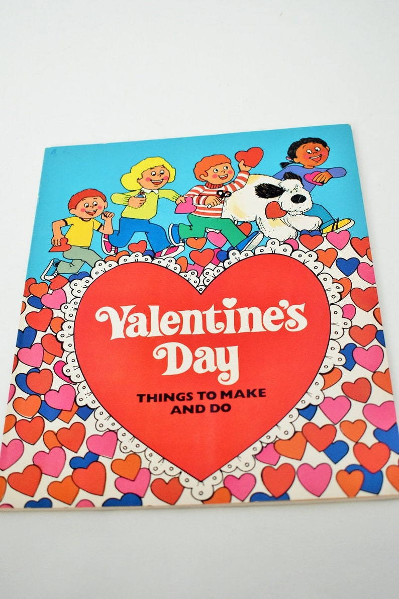 Valentine S Day Things To Make And Do Vintage Kids Craft Etsy