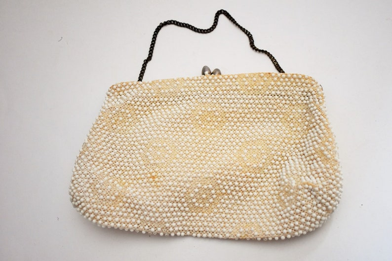 68156881ad27 Corde  Beaded clutch-Vintage Beaded purse-Lumured purse