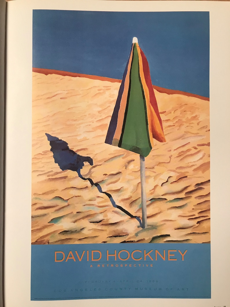 David Hockney Genuine Lithographic Mini Poster 14x10 inches Exhibition Poster