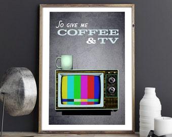 Blur - Coffee & TV - Art Print / Poster - Britpop - Damon Albarn - Vintage - Modern - Indie - Coffee Lover - Music Lyrics