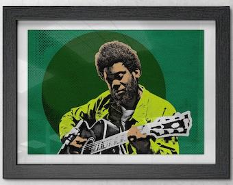 Michael Kiwanuka - Poster / Print - Indie Rock - Folk Rock - British Singer Songwriter