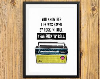 The Velvet Underground - Art Print / Poster - Lou Reed - Andy Warhol - Pop Art - New York - Radio