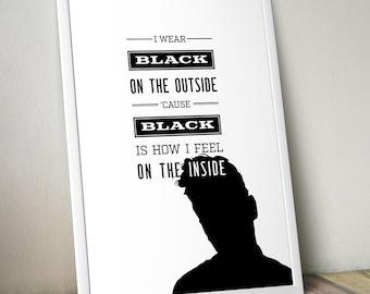 The Smiths - Unloveable - Lyrics Poster Print - Post-Punk - Manchester - Morrissey - Goth - Punk - Dark wave - Music - Alternative 80's