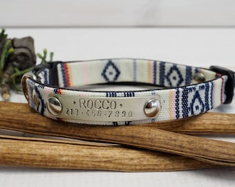 Cat collar, Personalized Cat collar, Small Dog Collar, ID tag, Cat Name Plate, Cat Collar Personalized, Breakaway Safety Buckle, Outdoor cat