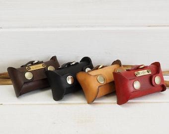 Dog Bag Dispenser, Poop Bag Holder, Leather Dog Bag, Dog waste bags dispenser, Personalized Leather Dog Bag, Dog Bag Holder, Dogie waste bag