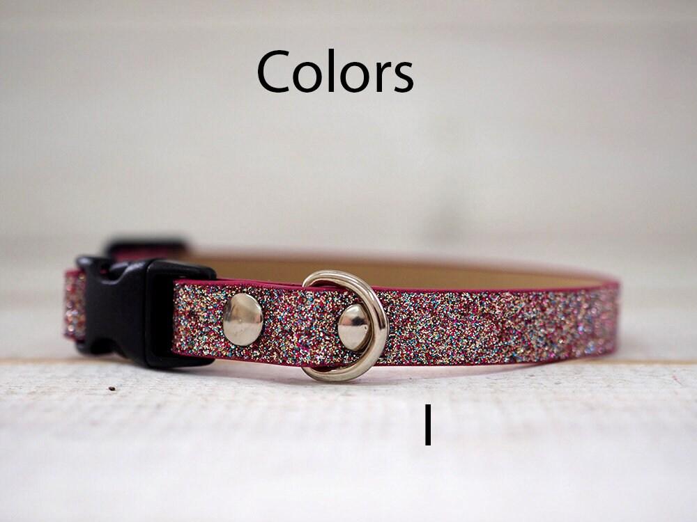 cat collar glitter breakaway collar sparkling dog collar personalized collar personalized. Black Bedroom Furniture Sets. Home Design Ideas
