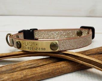 Dog Collars, Cat Collar, Breakaway Collar, Strass Webbing, Personalized Collar, Personalized Cat Collar, Cat Collar Personalized, Dog Name