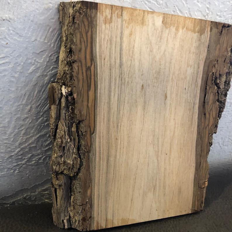 Black Walnut Live Edge Wood Slab with Bark 7 34x6-6 18x78