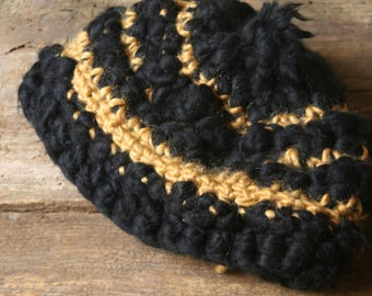 Cap made of extralarge wool