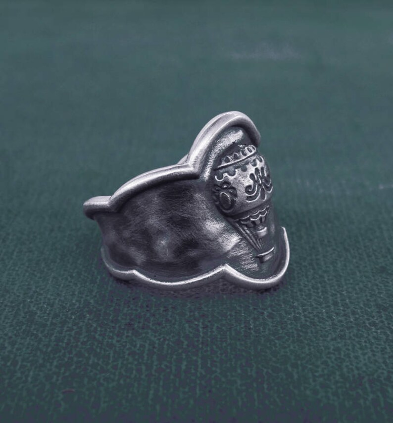 Hot air balloon ring Louis XVI Versailles sterling silver  image 0