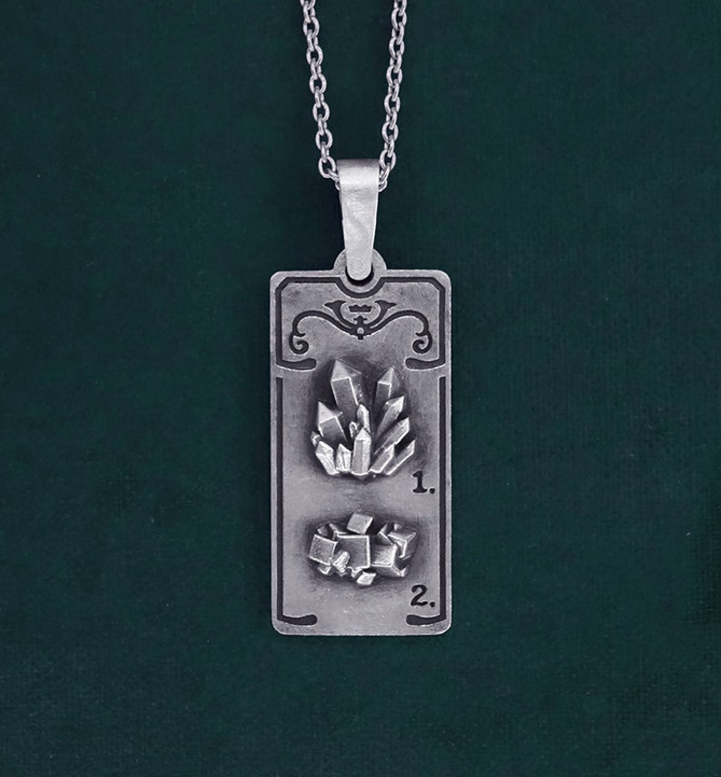 Pendant pyrite ore and quartz crystal Victorian in solid image 0