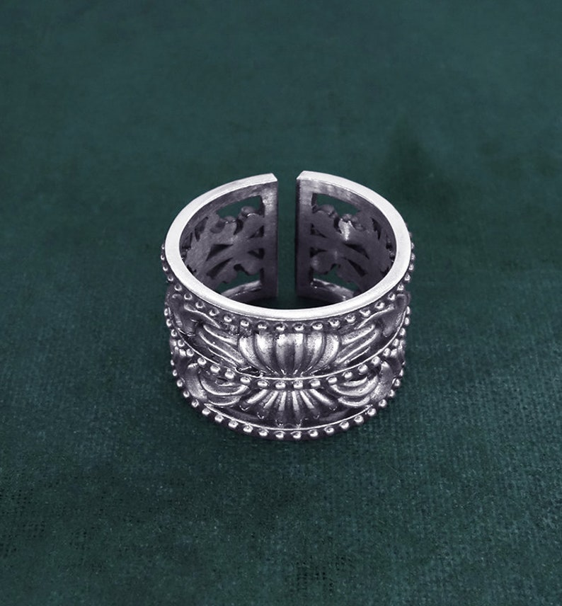 Baroque-Rococo spirit ring French castle rocaille style 925 image 0