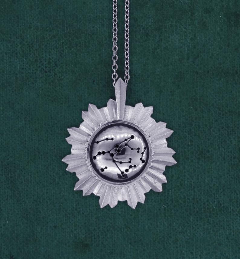 Big Dipper constellation pendant astro jewelry milky way image 0