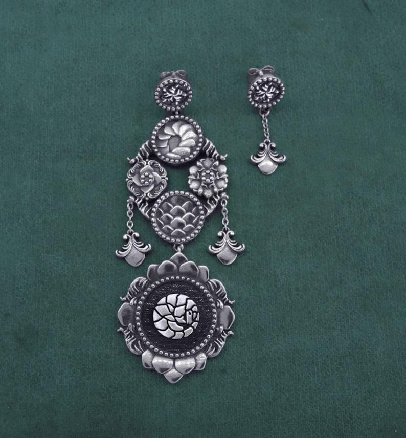 Pangolin earrings cingulata or armadillo jewelry sterling image 0