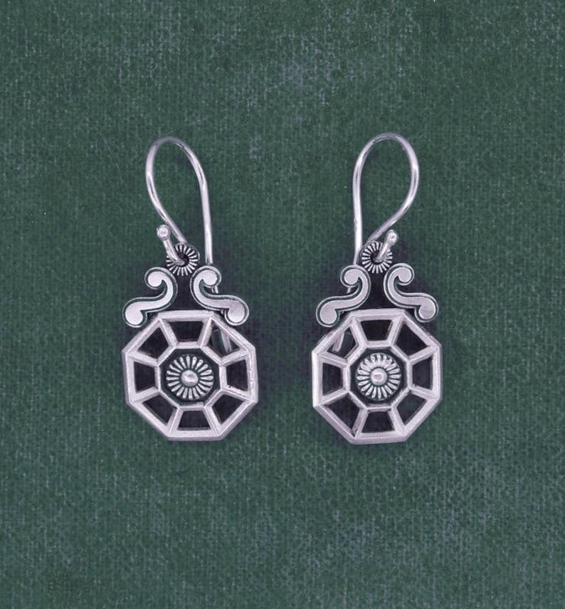 Indus style earrings botanical orangery or greenhouse image 0