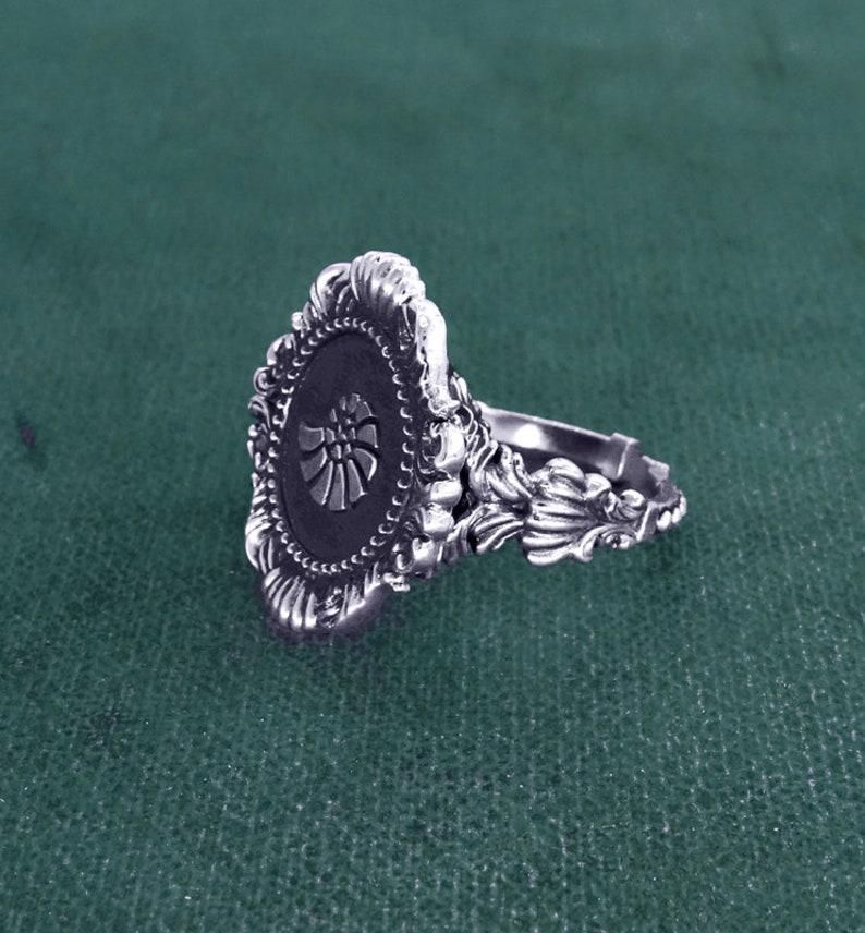 Nautilus or ammonite fossil ring baroque rococo jewelry 925 image 0