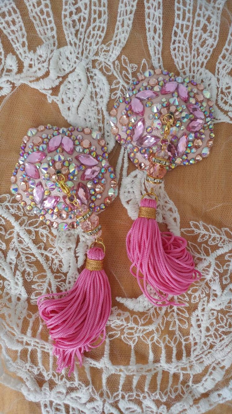 burlesque pasties by D.LPD Made to order Nipple tassels NEW C/'est Magique