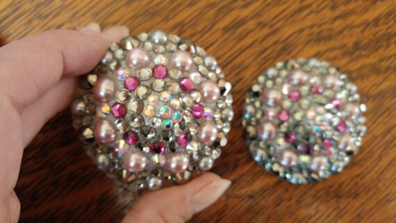 Gray Light Pink And Pearls Burlesque Pasties Nipple -5917