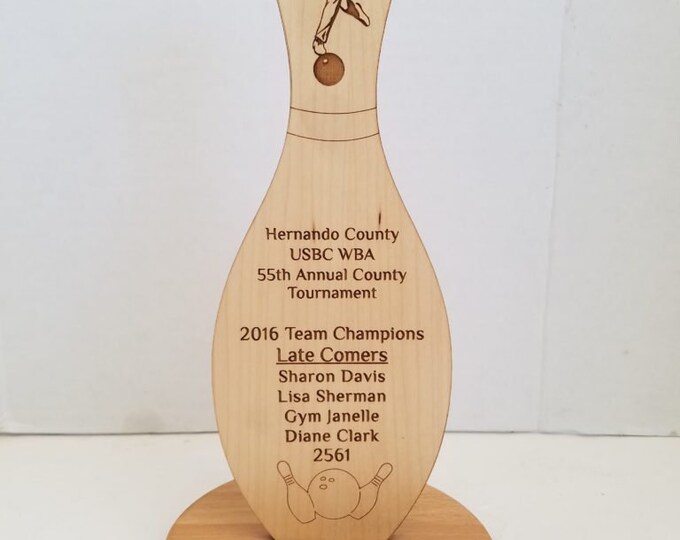 Featured listing image: Free Standing Bowling Award