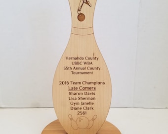 Free Standing Bowling Award