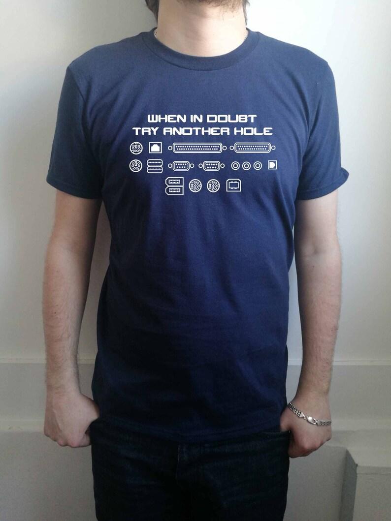 b96bfb39d1 Gdy w wątpliwości spróbuj innego otworu zabawny T-shirt męski