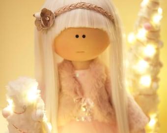 Dolll Nursery, handmade doll, Tilda Doll, Doll art, doll cloth, blonde doll