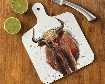 glass chopping board Cow chopping board cow kitchen gift country kitchen fun worktop saver cutting board Not in the Moooo/'d