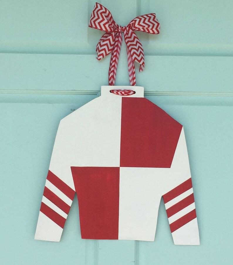 Ky Derby Jockey Silk Ky Derby Door Hanger Ky Derby Wreath Etsy
