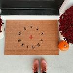 merry + bright doormat