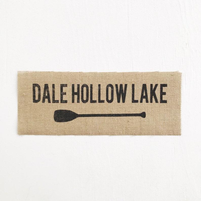 dale hollow lake unframed burlap print
