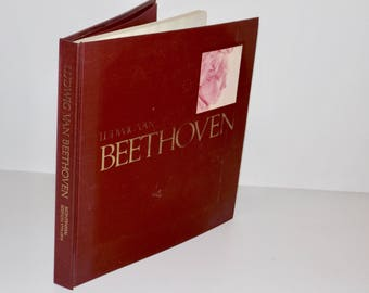 Ludwig van Beethoven book,Bicentenial Edition,1970,large hardcover book,coffee table book,Joseph Schmidt-Gorg,1770-1970,history of Beethoven