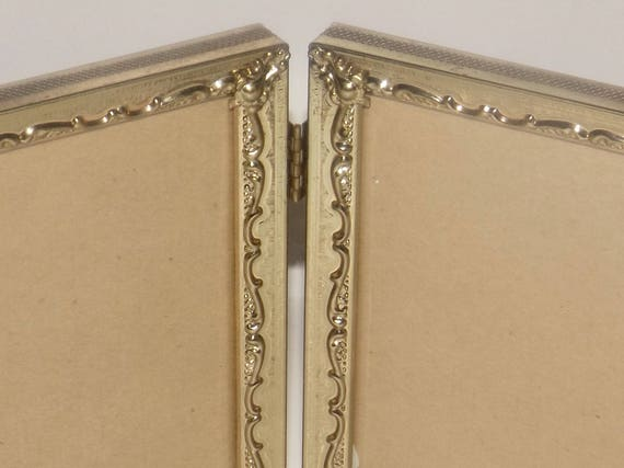 Gold plated folding frame,4 x 6 photo frame,gold picture frame,art ...