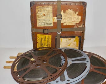 "Wuthering Heights 1939 film,3 reels,Fiberbilt hard body film storage and mailing case,Goldwyn studios,MGM,Dupont safety film,14"" film reels,"