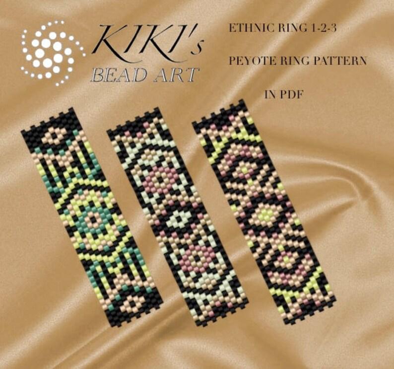Pattern peyote ring patterns Ethnic ring 123  peyote ring image 0