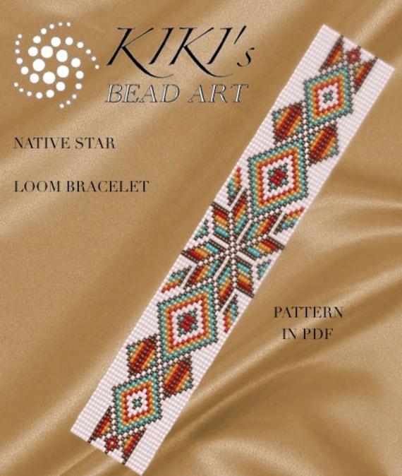 Bead Loom Pattern Native Star Loom Bracelet Pattern In Pdf Etsy