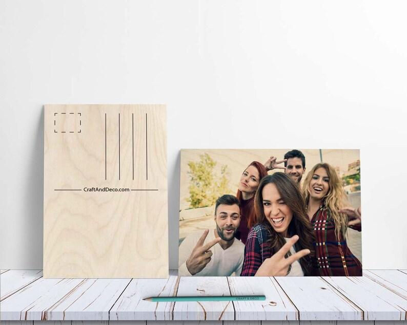 Carte postale en bois personnalisée Carte postale | Etsy
