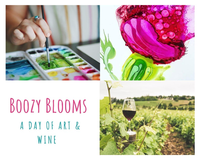 Boozy Blooms  A Day of Art & Wine at Flower Farm Nursery image 0